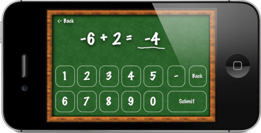 Interactive Integers practice adding negative and positive numbers