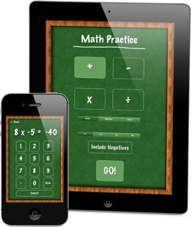 Math practice integers addition subtraction multiplication division