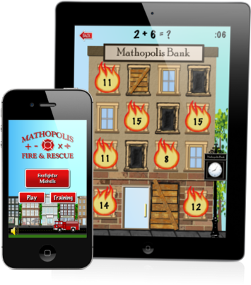 Mathopolis Fire and Rescue game app addition subtraction multiplication and division