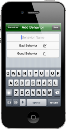 Easy Behavior Tracker for Teachers Add manage behaviors