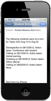 Easy Behavior Tracker for Teachers Notification Email
