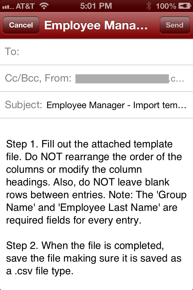 Employee Manager Import
