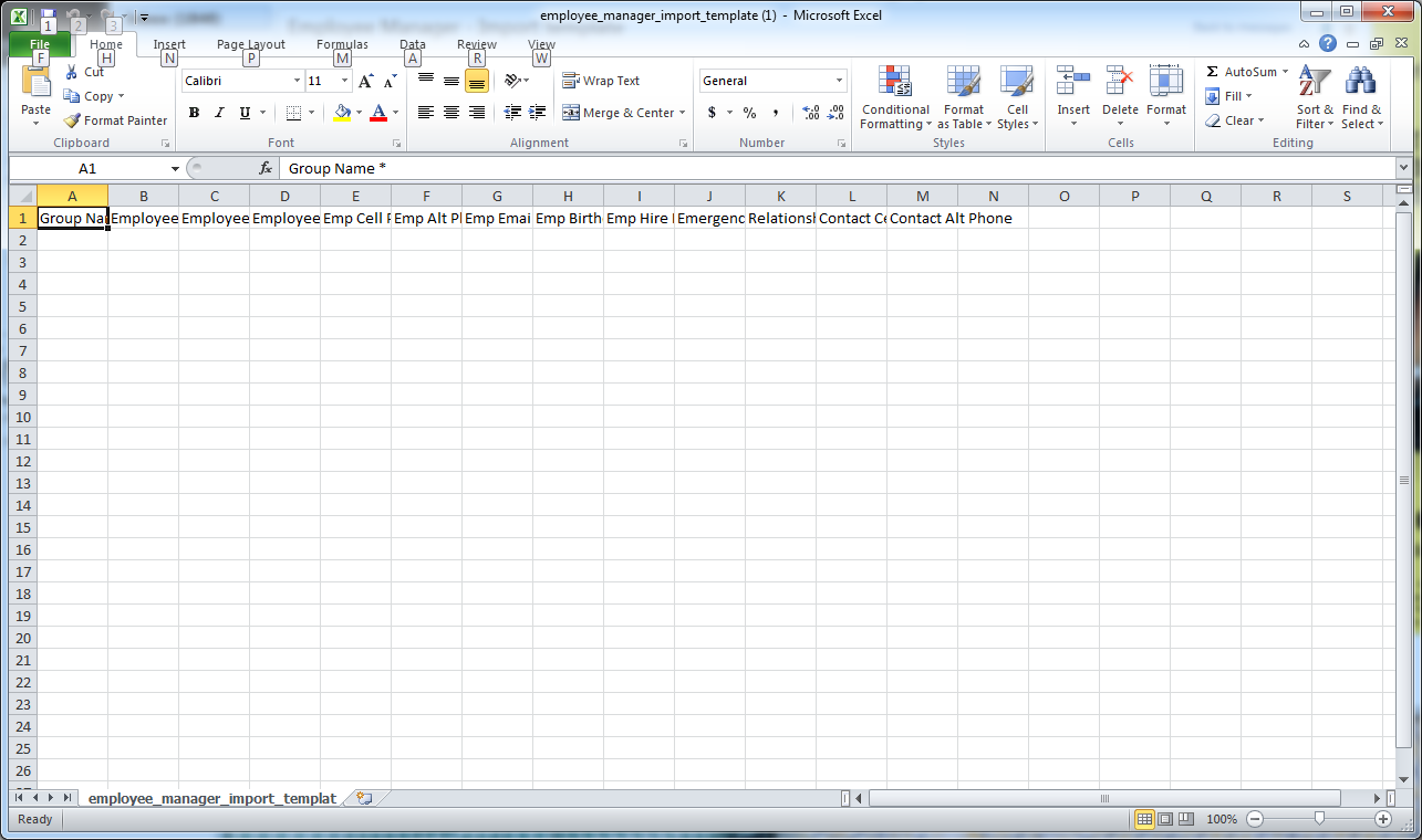 Employee Manager Import Template Example
