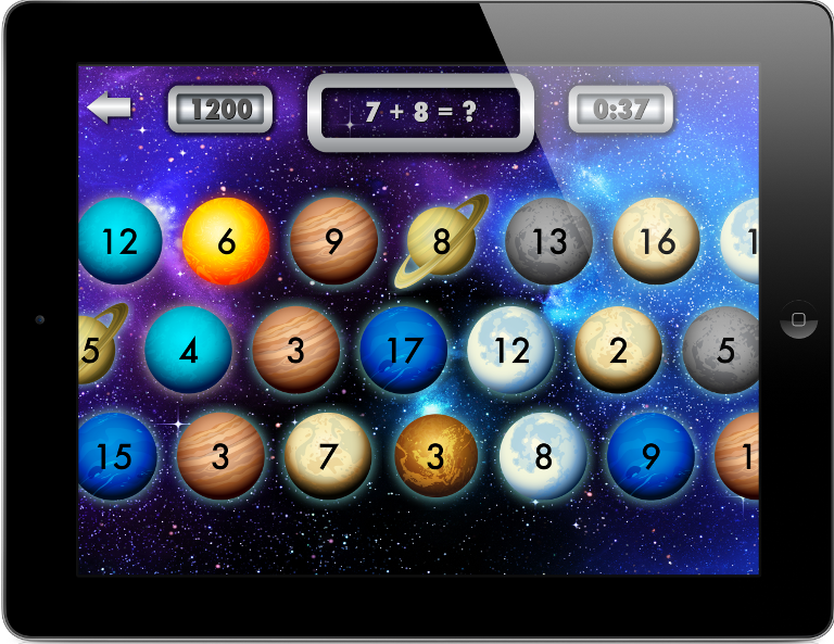 Star math facts game